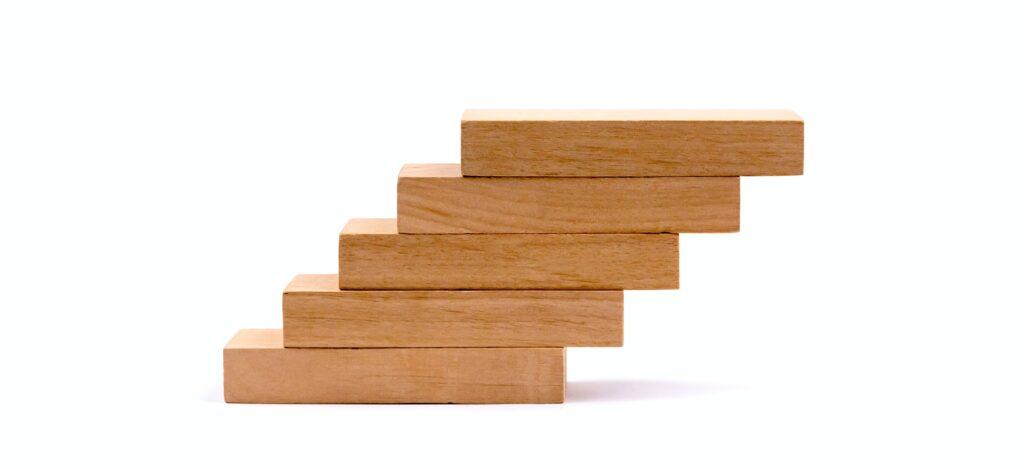 pile of brown wooden blocks