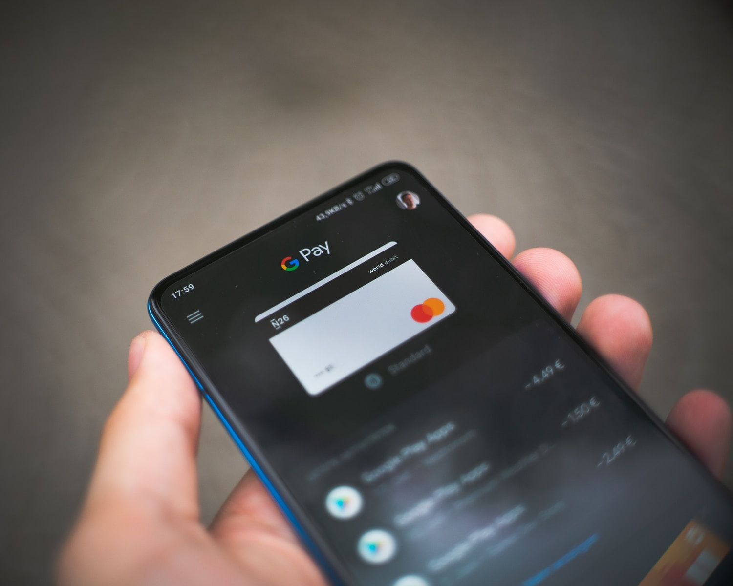 black samsung android smartphone displaying icons